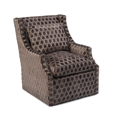 Scoop Swivel Arm Chair Upholstery: 2040 Fabric