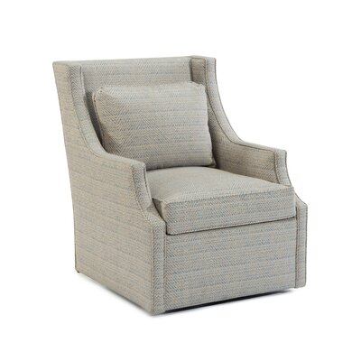 Scoop Swivel Arm Chair Upholstery: 2080 Fabric
