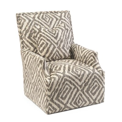 High Back Scoop Swivel Arm Chair Upholstery: 2052 Fabric