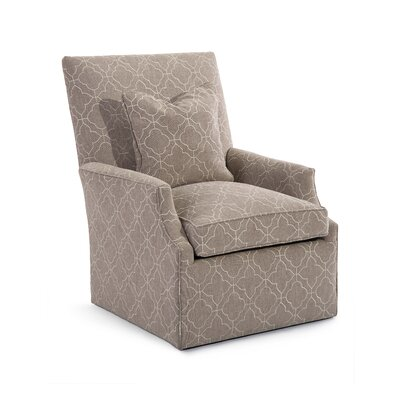 High Back Scoop Swivel Arm Chair Upholstery: 2066 Fabric