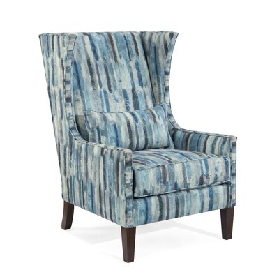 High Back Wingback Chair Upholstery: 1069 Fabric