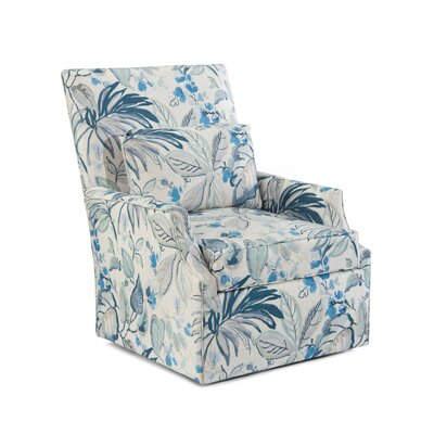 High Back Scoop Swivel Arm Chair Upholstery: 2087 Fabric