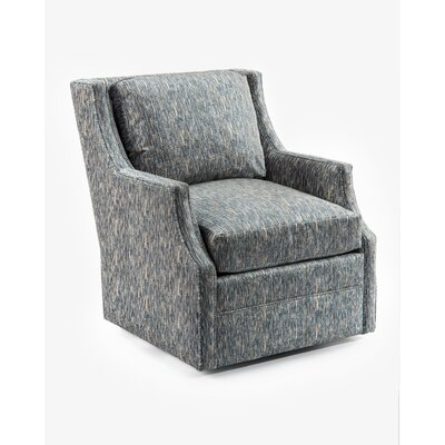 Wing Back Scoop Swivel Arm Chair