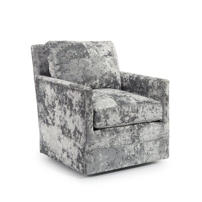 Curved Back Track Swivel Arm Chair