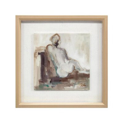 'Nude Sophisticated I' Framed Print on Canvas GBG-1418A