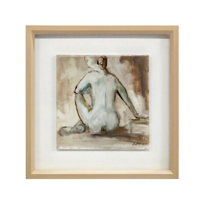 'Nude Sophisticated II' Framed Print on Canvas GBG-1418B