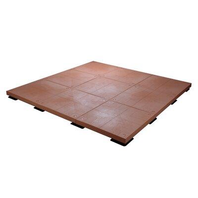 100 sq. ft. Patio Deck Starter Kit Finish: Red Cedar