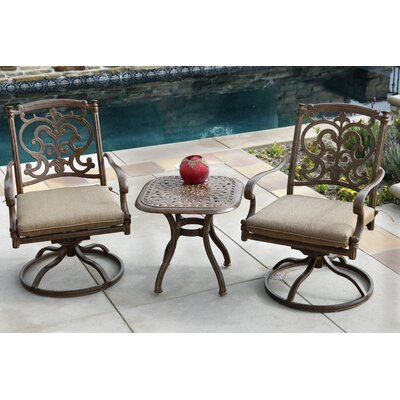 Santa Barbara 3 Piece Rocker Seating Group with Cushions Frame Finish: Mocha