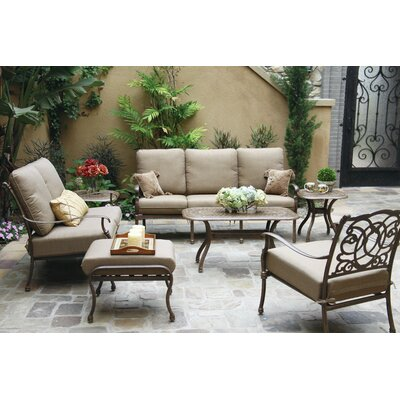 Florence 7 Piece Deep Seating Group with Cushions Frame Finish: Mocha