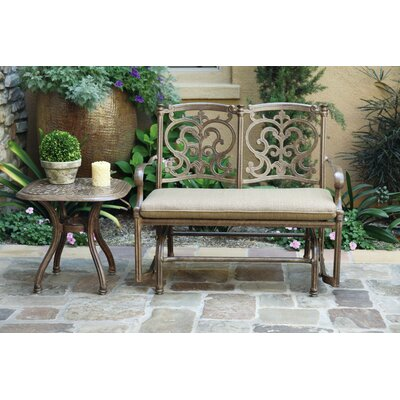 Santa Barbara 2 Piece Glider Seating Group with Cushions Frame Finish: Mocha