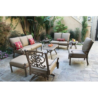 Santa Barbara 8 Piece Deep Seating Group with Cushions Frame Finish: Mocha