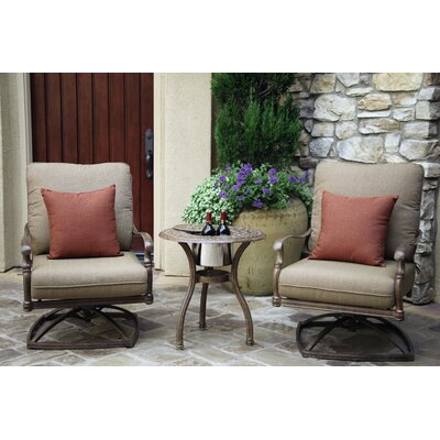 Florence 3 Piece Rocker Seating Group with Cushions Frame Finish: Mocha