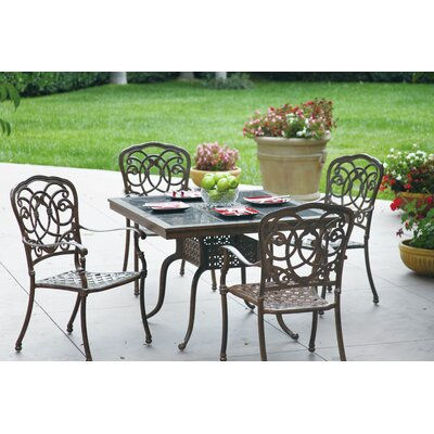 Florence 5 Piece Dining Set with Cushions Finish: Mocha