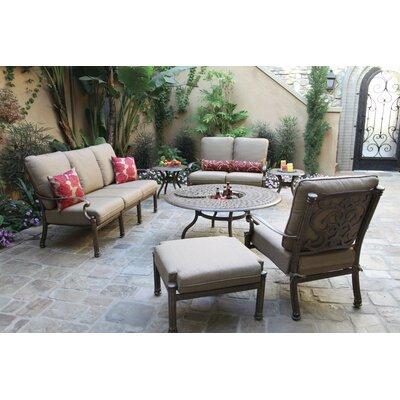 Santa Barbara 7 Piece Deep Seating Group with Cushions Frame Finish: Mocha