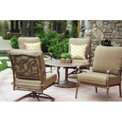 Florence 5 Piece Deep Seating Group with Cushions Frame Finish: Mocha