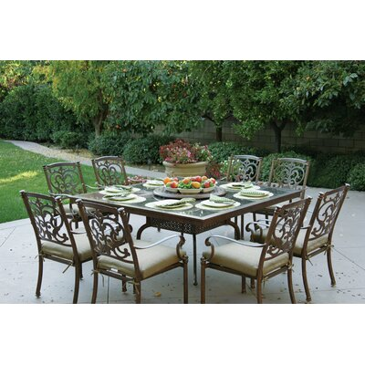 Santa Barbara 10 Piece Dining Set with Cushions Finish: Mocha