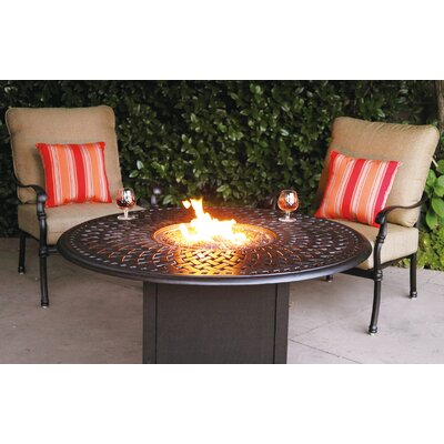 Florence 3 Piece Fire Pit Seating Group with Cushions Frame Finish: Antique Bronze