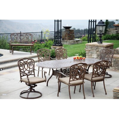 Florence 7 Piece Dining Set with Cushions Finish: Mocha