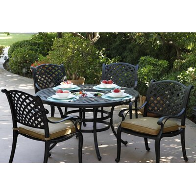 Nassau 5 Piece Dining Set with Cushions