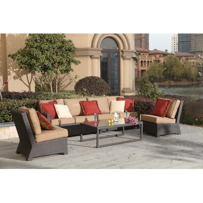 Vienna 5 Piece Sectional Seating Group with Cushions