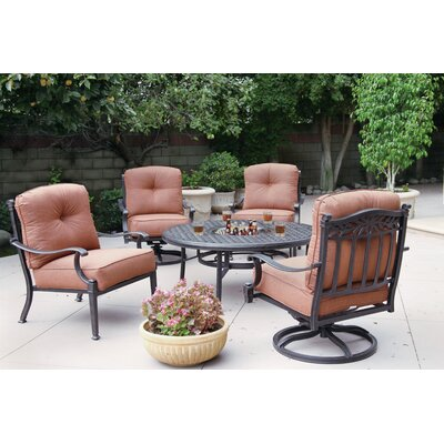 Charleston 5 Piece Deep Seating Group with Cushions