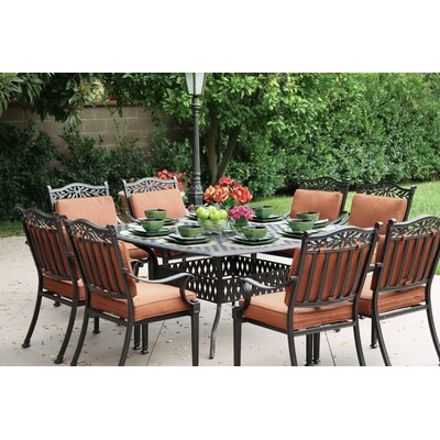 Charleston 9 Piece Dining Set with Cushions