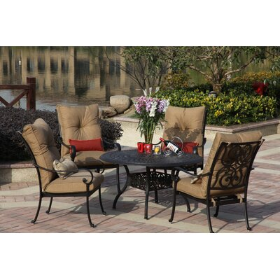 Santa Anita 5 Piece Dining Set with Cushions