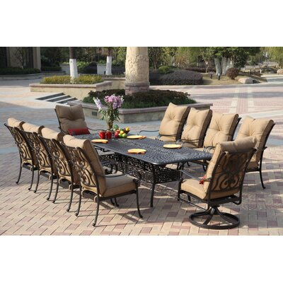 Santa Anita 11 Piece Dining Set with Cushions