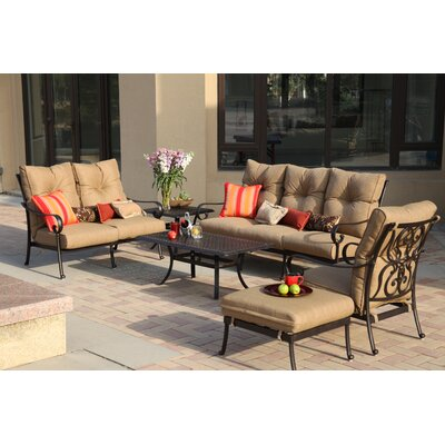 Santa Anita 4 Piece Deep Seating Group with Cushions