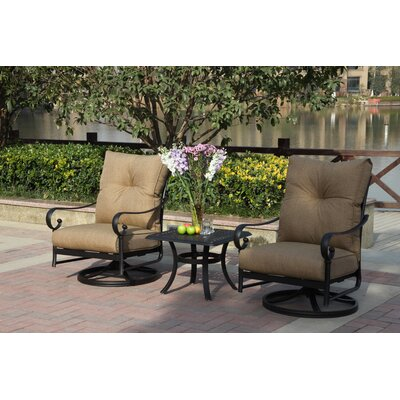 Santa Anita 3 Piece Deep Seating Group with Cushions