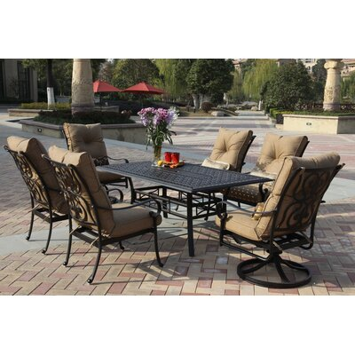 Santa Anita 7 Piece Dining Set with Cushions