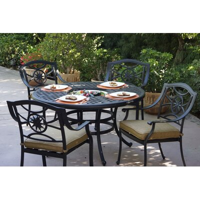 Ten Star 5 Piece Dining Set with Cushions