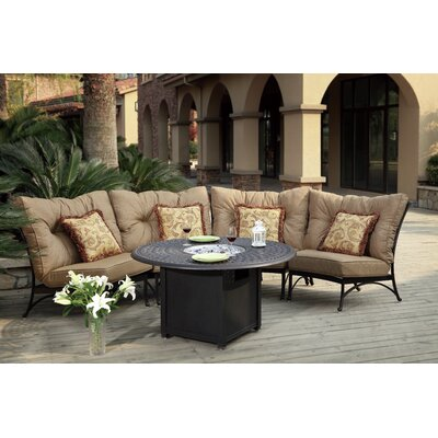 Santa Anita 5 Piece Fire Pit Seating Group with Cushions