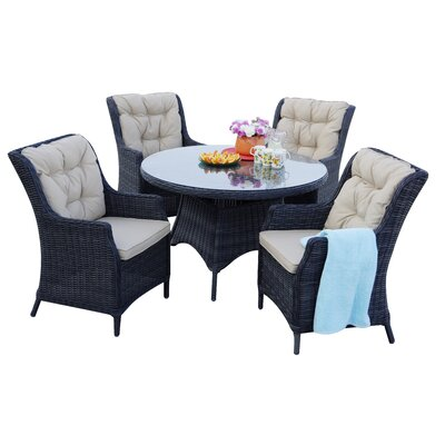 Valencia 5 Piece Dining Set with Cushions