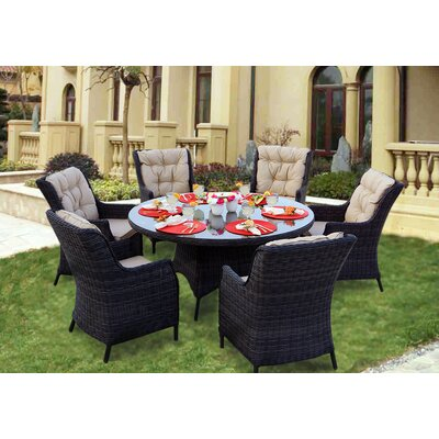 Valencia 7 Piece Dining Set with Cushions