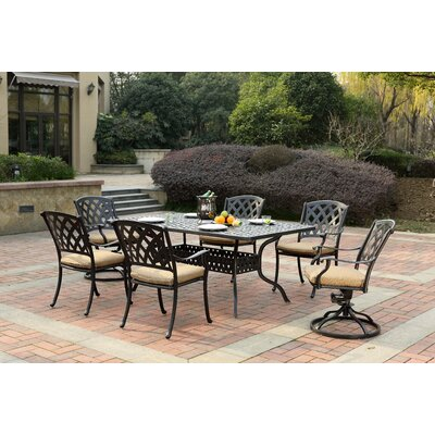 Ocean View 7 Piece Dining Set with Cushion