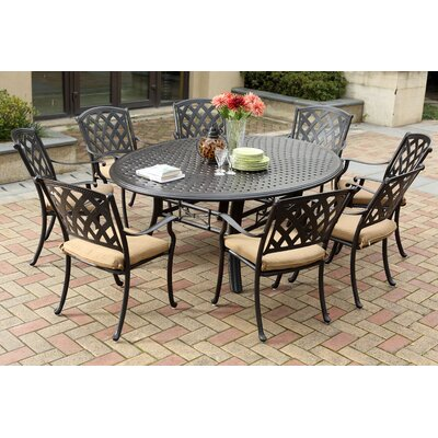 Ocean View 9 Piece Dining Set with Cushion