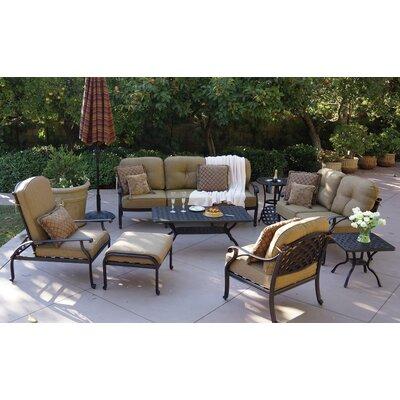 Nassau 8 Piece Deep Seating Group with Cushion