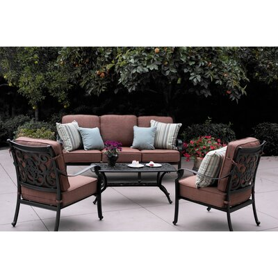St Cruz 4 Piece Deep Seating Group with Cushion