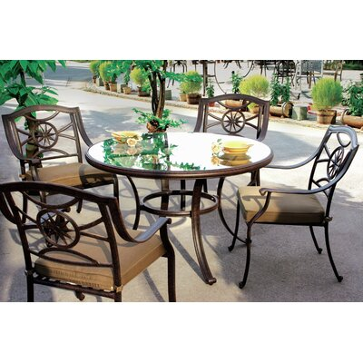 Ten Star 5 Piece Dining Set with Cushion