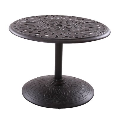 Series 60 Chat Table Finish: Antique Bronze, Table Size: 30 L x 30 W