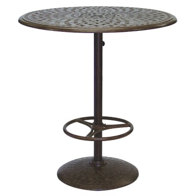 Series 60 Bar Table Finish: Mocha, Table Size: 30
