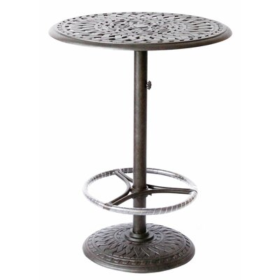 Series 60 Bar Table Finish: Antique Bronze, Table Size: 30 L x 30 W