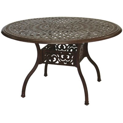 Series 60 Dining Table Finish: Antique Bronze, Table Size: 48 W x 48 D