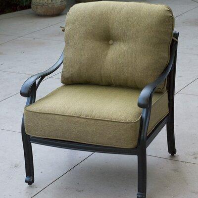 Nassau Club Chair Seat and Back Cushion Fabric: Sesame