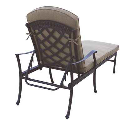 Sedona 3 Piece Chaise Lounge Set with Cushions Finish: Antique Bronze