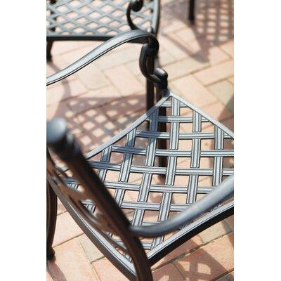 Santa Barbara 5 Piece Bar Set with Cushions Finish: Antique Bronze