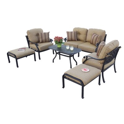 Nassau 6 Piece Deep Seating Group with Cushions