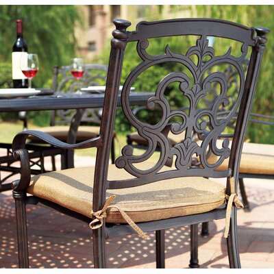 Santa Barbara 7 Piece Dining Set with Cushions Finish: Antique Bronze