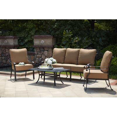 Capri 4 Piece Deep Seating Group with Cushions